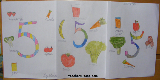 Healthy food project for primary students