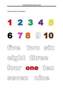 Free printable worksheets for numbers