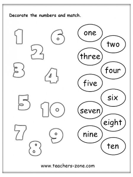 FREE NUMBERS 1-10 WORKSHEETS - Teacher's Zone