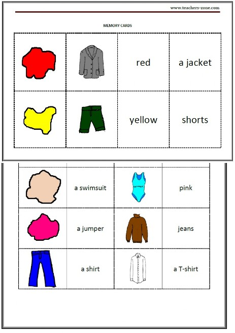 clothes and colours game