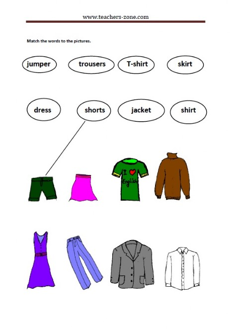 match the clothes to their labels