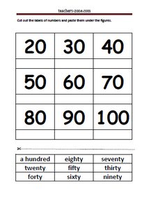 Free printables for numbers up to 100