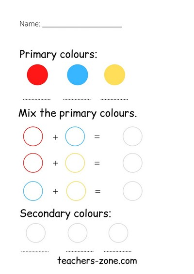 Mixing colours CLIL lesson plan for primary students