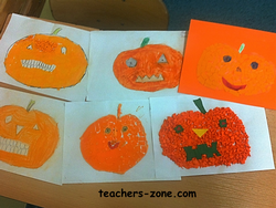 Halloween pumpkins for primary stydents