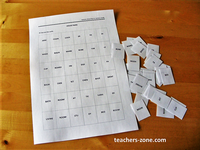 Rooms and furniture - vocabulary matching game