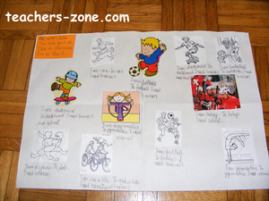Sports and equipment - teaching idea for primary students