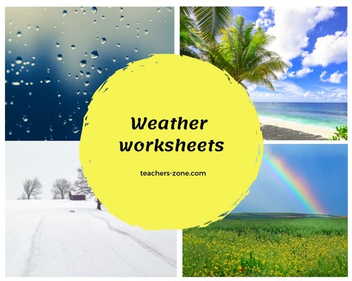 Free printable worksheets for weather vocabulary