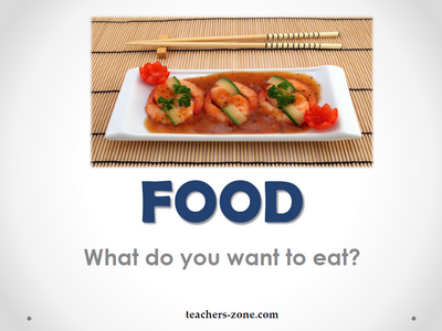 Flashcards for food - printables