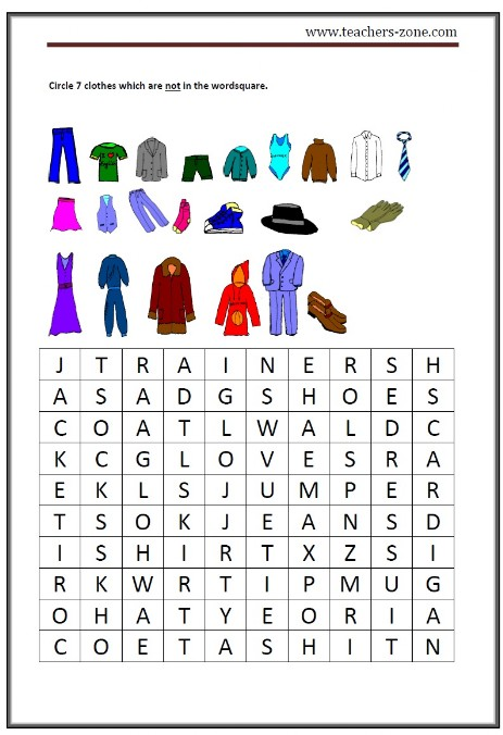 clothes activity