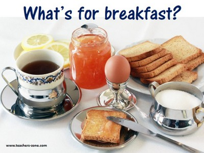 Flashcards - food / breakfast vocabulary