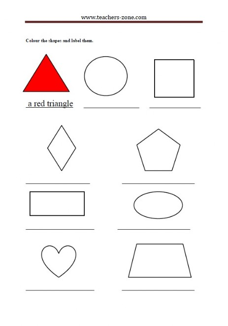 colour and describe the shapes
