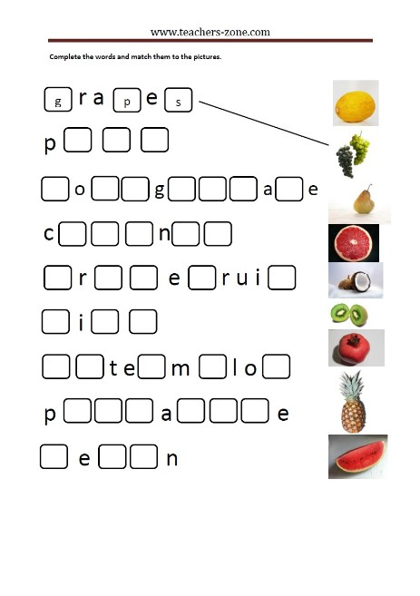 Fruit - spelling
