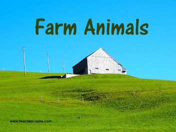 Flashcards for farm animals