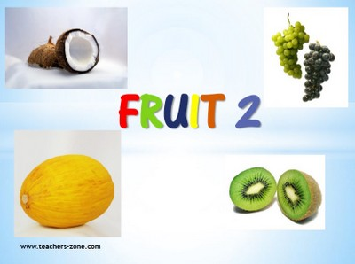Free printable flashcards for fruit