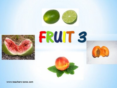 Printable flashcards for fruit