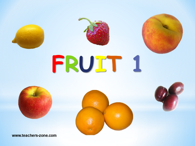 Fruit flashcards to download