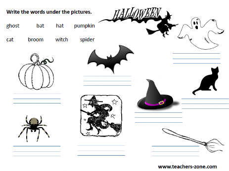 Printable resources for Halloween