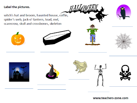 Worksheet for Halloween