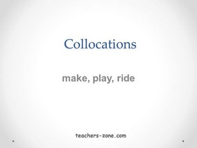 Collocations for ESL kids
