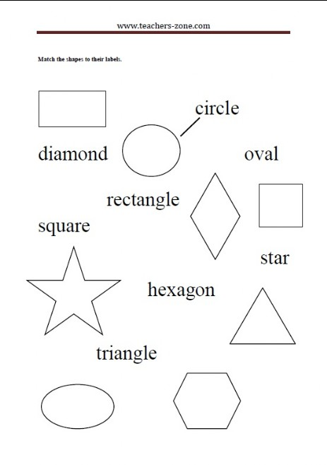 match the shapes to their labels