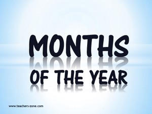 Months of the year reasources