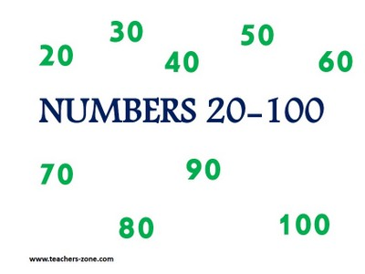 Numbers 1-100 - flashcards