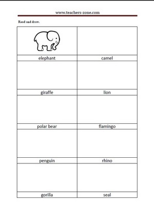Free zoo animal worksheet for kindergarteners. This would be a ...