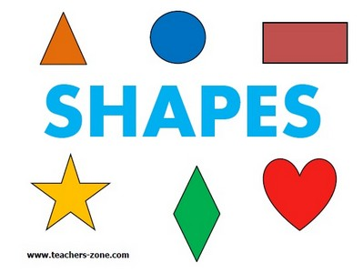 Flashcards for shapes vocabulary