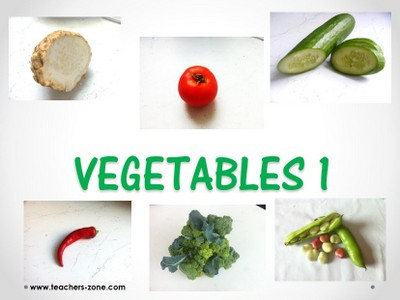 Free printable flashcards for vegetables