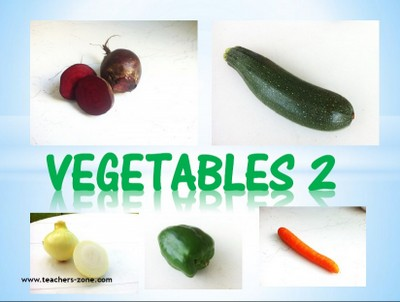 Printable flashcards for veggies