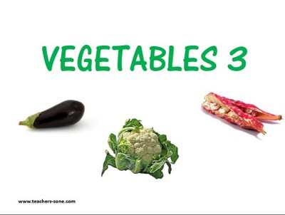 Free veggies flashcards to download