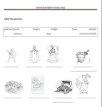 printable task for St. George's Day